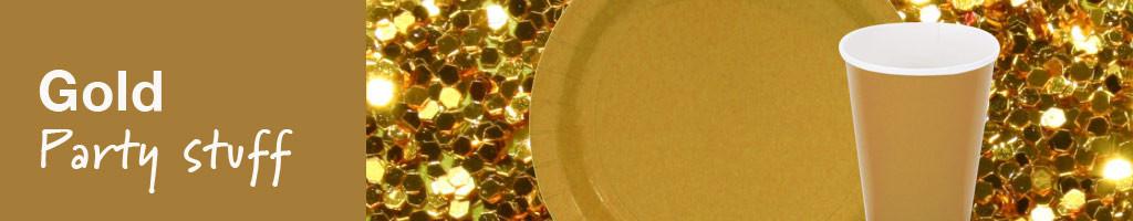 Versiering gold party en feestartikelen in het goud for Versiering goud