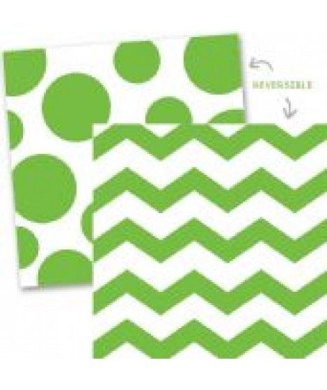 Chevron servetten groen dots