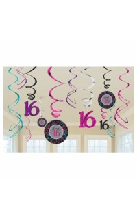 Hangdecoratie Swirls Sweet 16