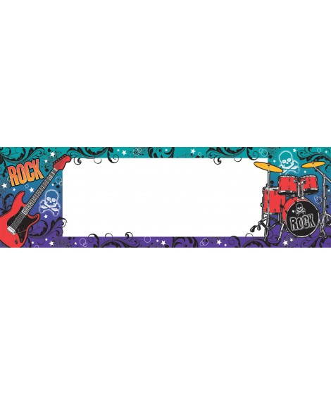 Banner Poster Rock Star Party