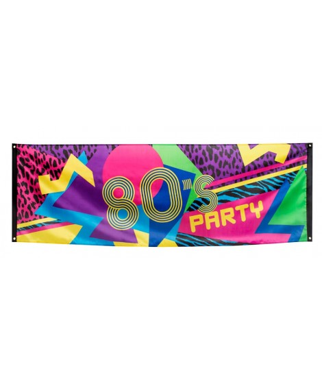 Banner 80s party