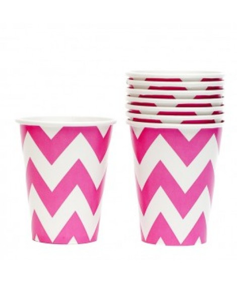 Chevron bekers roze