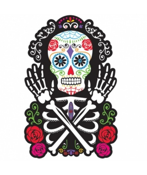 Deurbord Day of the Dead