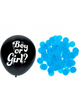 Confetti ballon Gender Reveal jongen.