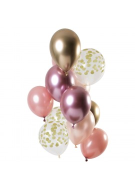 Ballon set Golden Blush