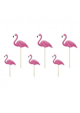 Flamingo toppers, 6 st
