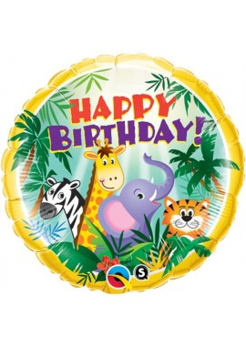 Folieballon Jungle Happy Birthday.