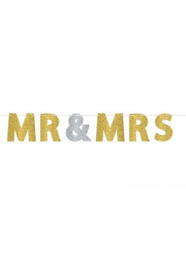 Slinger Mr & Mrs glitter