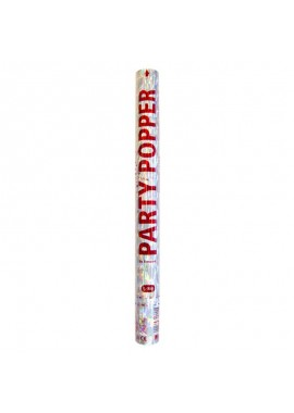 Party Popper zilver groot