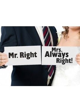 Foto Props Mr Right Mrs Always Right