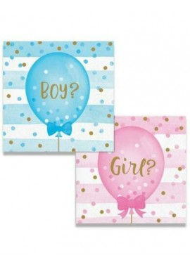 Gender reveal servetten