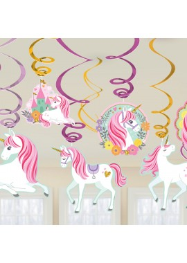 Unicorn swirl hangdecoratie