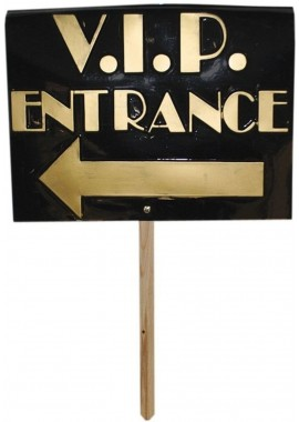 VIP entrance bord entree