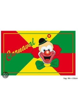 Vlag Carnaval Clown